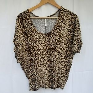 DNA couture leopard print top small dolman